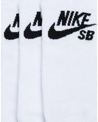 Nike - 3 Pack No Show Socks In White Sx4921-100 for Men - Lyst