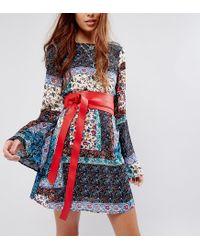 Glamorous | Red Oversized Obi Wrap Waist Belt | Lyst