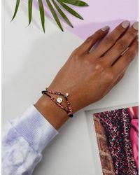 Juicy Couture - Black Multi Strand Beaded Cord Bracelet - Lyst