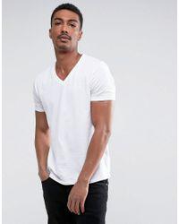 ASOS | White T-shirt With V Neck for Men | Lyst