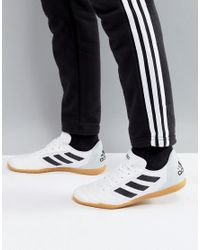 lyst adidas calcio indoor formatori in bianco by1956 in asso