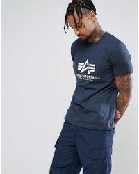 Alpha Industries - Blue Logo T-shirt In Navy for Men - Lyst