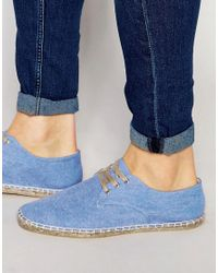 ASOS - Derby Espadrilles In Blue Chambray for Men - Lyst