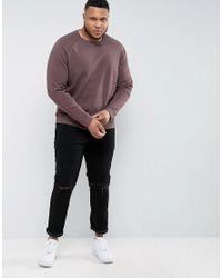 ASOS - Plus Sweatshirt In Brown for Men - Lyst