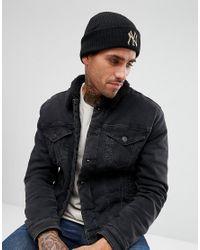KTZ - Black Club Coop Beanie Ny Yankees for Men - Lyst