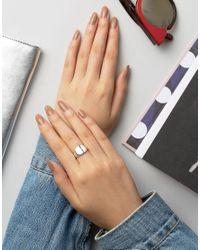 Regal Rose - Metallic Sterling Silver Signet Ring - Lyst