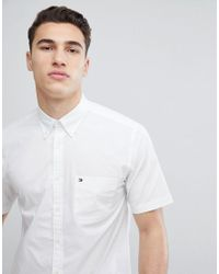 85600eb009159 Lyst - Tommy Hilfiger Short Sleeve Stretch Poplin Button Down Shirt ...