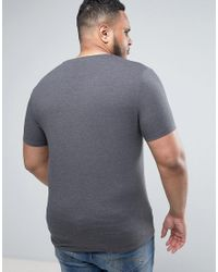 ASOS - Gray Plus Muscle Fit T-shirt 3 Pack Save for Men - Lyst