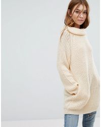 Oeuvre - Natural Roll Neck Sweater - Lyst
