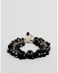 Coast - Black Beaded Bracelet - Lyst