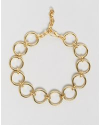 Gogo Philip - Metallic Gold Plated Loop Choker Necklace - Lyst
