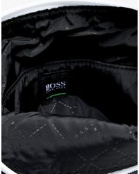 BOSS - Blue Pixel Flight Bag In Navy for Men - Lyst