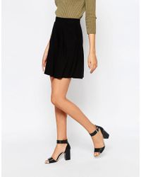 ASOS - Black Skater Skirt With Pockets - Lyst