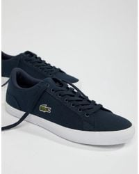 d1708fef2 Lacoste Lerond Bl 2 Trainers In Blue Canvas in Blue for Men - Lyst