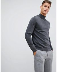 Only & Sons - Gray High Neck Knit for Men - Lyst