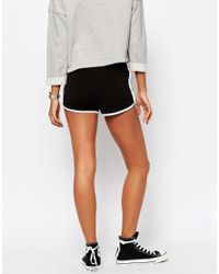 ASOS - Black Basic Runner Shorts With Contrast Binding - Lyst