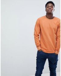 Only & Sons - Brown Sweatshirt With Raglan Sleeve for Men - Lyst