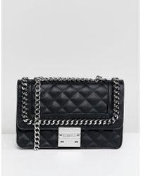 668674f44a0 Carvela Kurt Geiger Bailey Quilted Chain Shoulder Bag in Black - Lyst