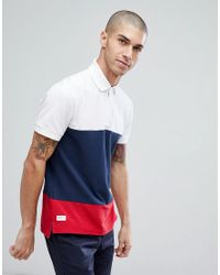 Tommy Hilfiger - Blue Caleb Icon Colourblock Regular Fit Polo In Navy for Men - Lyst