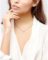 Pilgrim - Gray Simple Heart Necklace - Lyst