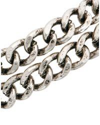 ASOS - Metallic Bracelet With Double Chain - Lyst
