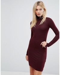 ea7482ed847 French Connection Sweeter Sweater Knitted Bodycon Dress in Red - Lyst