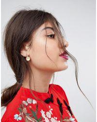 ASOS - Metallic Frosted Pastel Ball Stud Earrings - Lyst