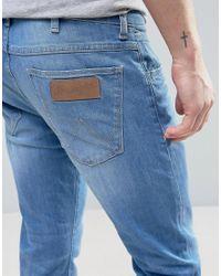 Wrangler - Skinny Fit Jeans In Waterfall Blue for Men - Lyst