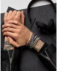 ASOS | Multicolor Plaited Fabric Bracelet Pack for Men | Lyst
