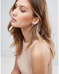 Ted Baker - Metallic Plisse Crystal Ball Drop Earrings - Lyst