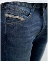 69a1e96f DIESEL Jeans Belther 814w Slim Fit Mid Wash in Blue for Men - Lyst