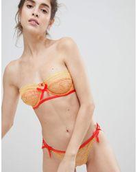 ASOS - Orange Design Grace Delicate Lace Strapless Underwire Bra - Lyst
