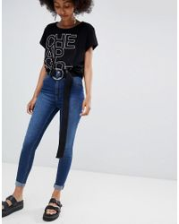 Cheap Monday - Blue High Spray Skinny Jeans - Lyst