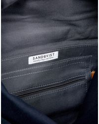 Sandqvist - Blue Stig Rolltop Backpack In Navy for Men - Lyst