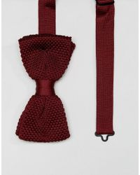 Noose And Monkey - Red Knitted Bow Tie for Men - Lyst
