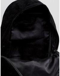 ASOS - Suede Backpack In Black for Men - Lyst