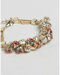 Coast - Metallic Crystal Cluster Chain Bracelet - Lyst