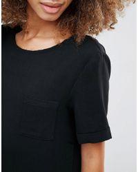YMC - Black Basic Dropped Hem Dress - Lyst