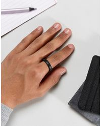 Icon Brand - Segregated Band Ring In Black for Men - Lyst