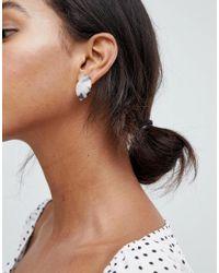 Glamorous - Multicolor Tortoiseshell Resin Stud Earrings - Lyst