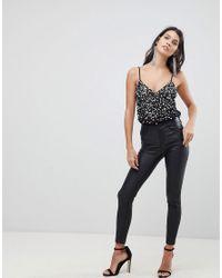 ASOS - Black Design Body With Sequin Embellishment - Lyst
