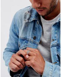 Seven London - Metallic Silver Chunky Ring for Men - Lyst