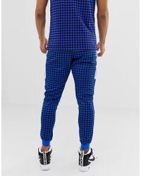 neue Liste Preis vergleichen günstig Nike Blau karierte Jogginghose in Blue für Herren