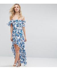 Missguided - Orange Frill Detail Maxi Dress - Lyst