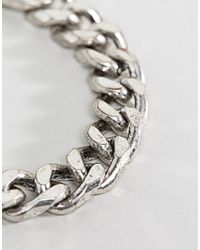 Icon Brand - Metallic Heavy Chain Bracelet In Silver Exclusive To Asos - Lyst