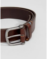 Pretty Green - Leather Belt In Brown With Gift Box for Men - Lyst
