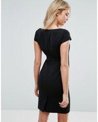 Zibi London | Black Lace Embrodiery Shift Dress | Lyst