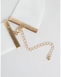 ASOS   Metallic Wide Velvet Choker Necklace   Lyst