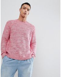 Weekday - Red Cave Melange Sweater for Men - Lyst