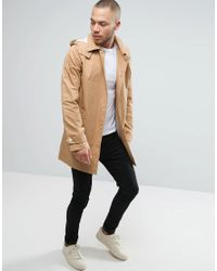 Another Influence - Natural Hooded Trench for Men - Lyst